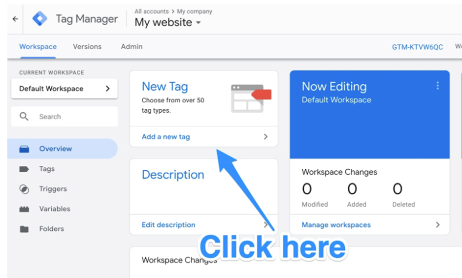New Tag for Google Analytics
